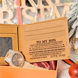 Dad To Son - Never Lose - Wallet Watch Gift Set