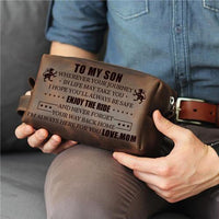 Mom To Son - Enjoy The Ride - Toiletry Bag