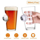Best Dad By Par - Pint Glass with a Real Golf Ball