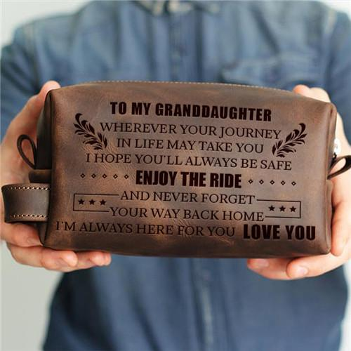 To My Granddaughter - Enjoy The Ride - Toiletry Bag