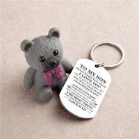 Dad To Son - Just Do Your Best - Inspirational Keychain