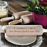 Husband And Wife - Two Hearts Rolled Into One - Rolling Pin