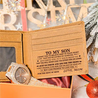 Mom To Son - Never Lose - Wallet Watch Gift Set