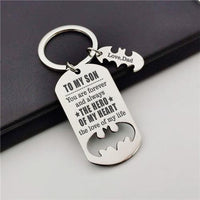 Dad To Son - You Are My Hero - Sweet Keychain