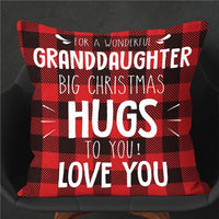 To My Granddaughter - Big Christmas Hugs To You - Pillow Case