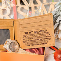 To My Grandson - Never Lose - Wallet Watch Gift Set