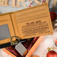 Mom To Son - Never Lose - Wallet Keychain Pen Gift Set