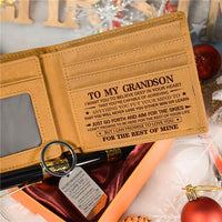 To My Grandson - Never Lose - Wallet Keychain Pen Gift Set