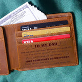 Son To Dad - Thank You for All You Do - Genuine Leather Wallet