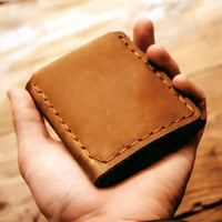 Mom To Son - Premium Cow Leather Trifold Wallet
