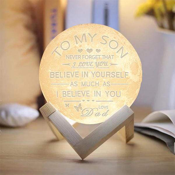 Dad Son - 3D Print Moon Light - Believe in yourself