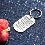 Dad To Son - Be The Great Man - Inspirational Keychain