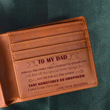 Daughter To Dad - Thank You for All You Do - Genuine Leather Wallet