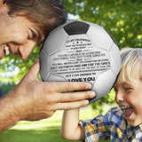 To My Grandson- You Will Never Lose- Soccer Ball