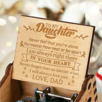 Dad To Daughter - I Will Always Love You - Engraved Music Box