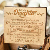 Mom To Daughter - I Will Always Love You- Engraved Music Box