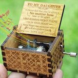 Dad To Daughter - I Will Always Love You- Engraved Music Box