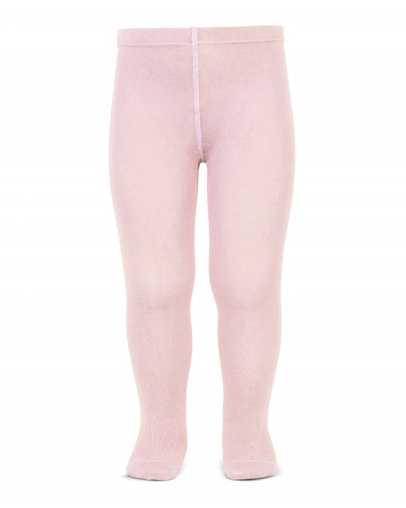 Girls Pink Cotton Tights
