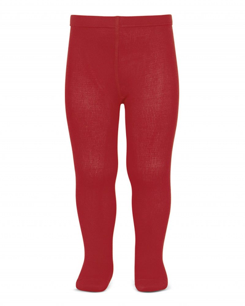 Girls Red Cotton Tights