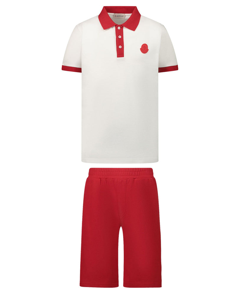 Boys Red Polo & Short Set