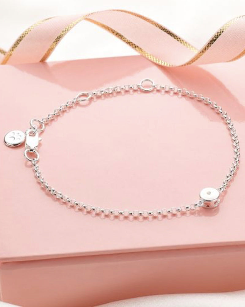 April Birthstone Bracelet-Diamond
