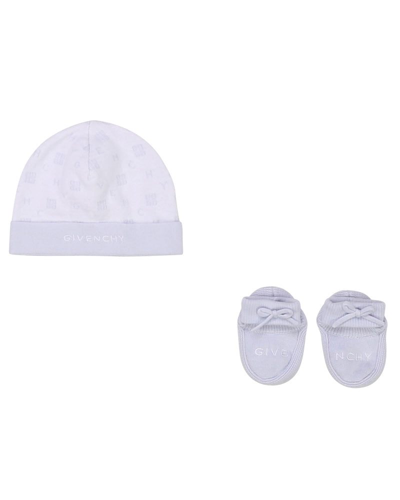 Baby Boys Blue Hat & Slipper Set