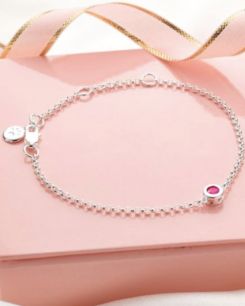 July Birthstone Bracelet-Ruby