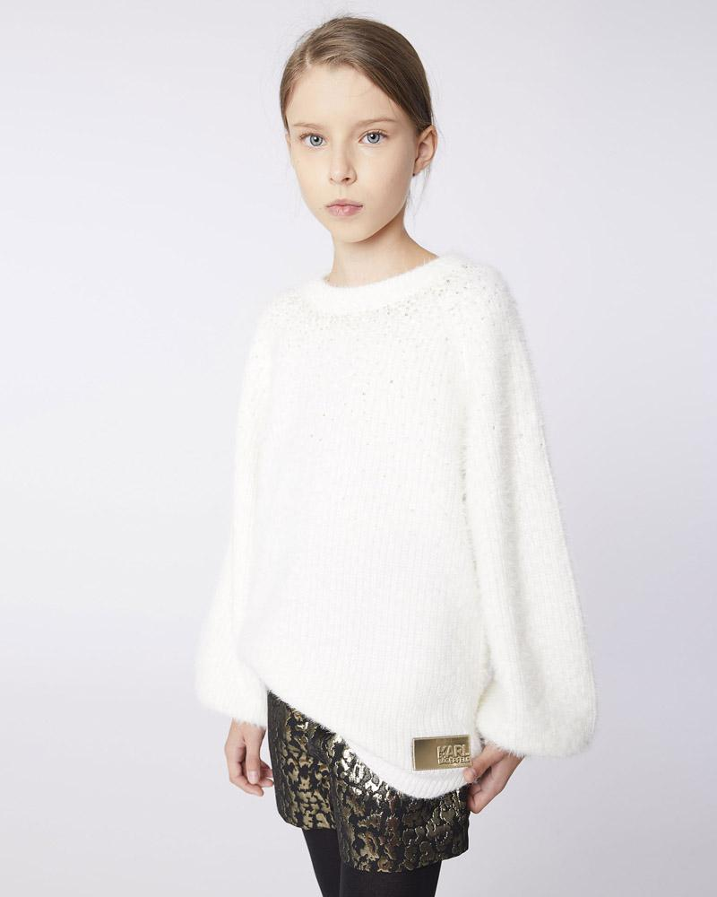 Girls Ivory Pullover