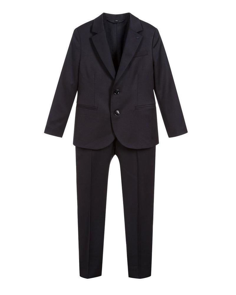 Boys Navy Cool Wool Suit