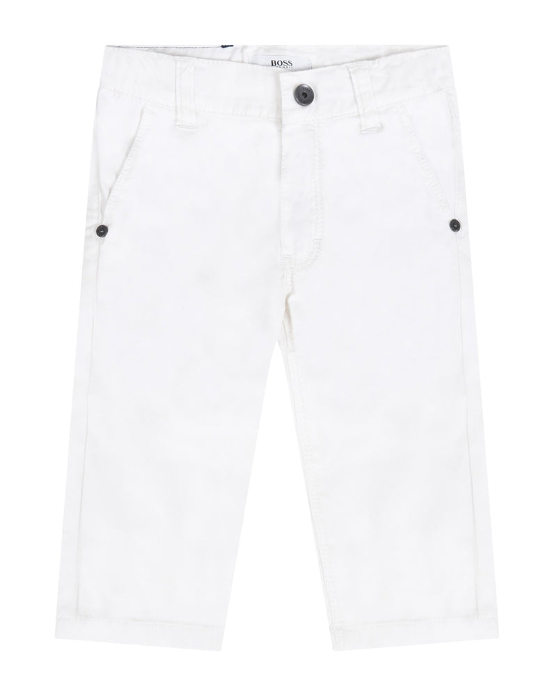 Baby Boys White Pants