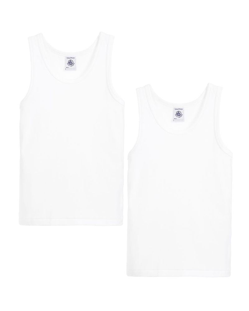 Boys White Undershirt Set