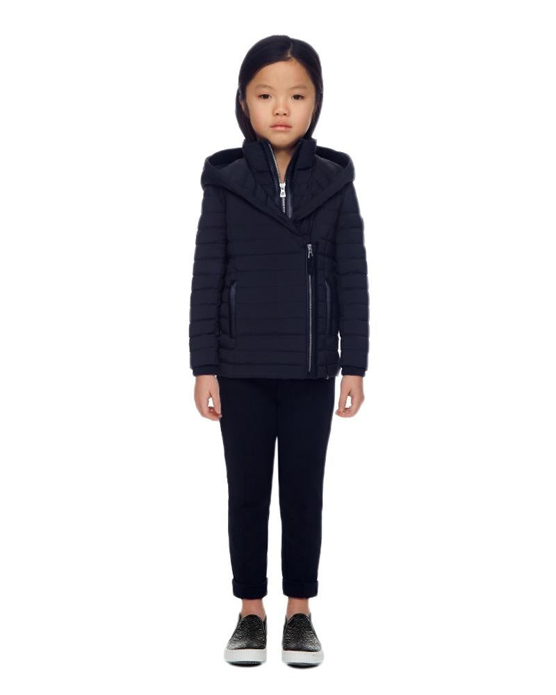 Girls Navy Meg Mini Jacket