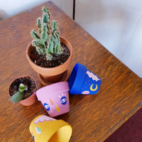 Mini Cacti Pot Blue