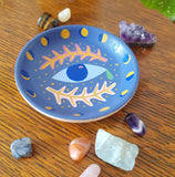 Dusty blue trinket bowl