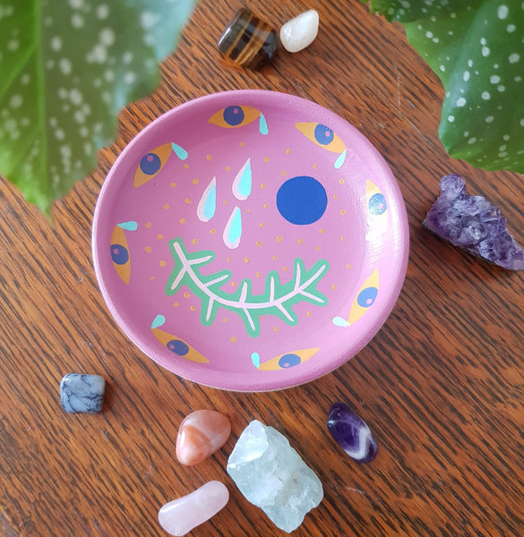 Dark pink trinket bowl