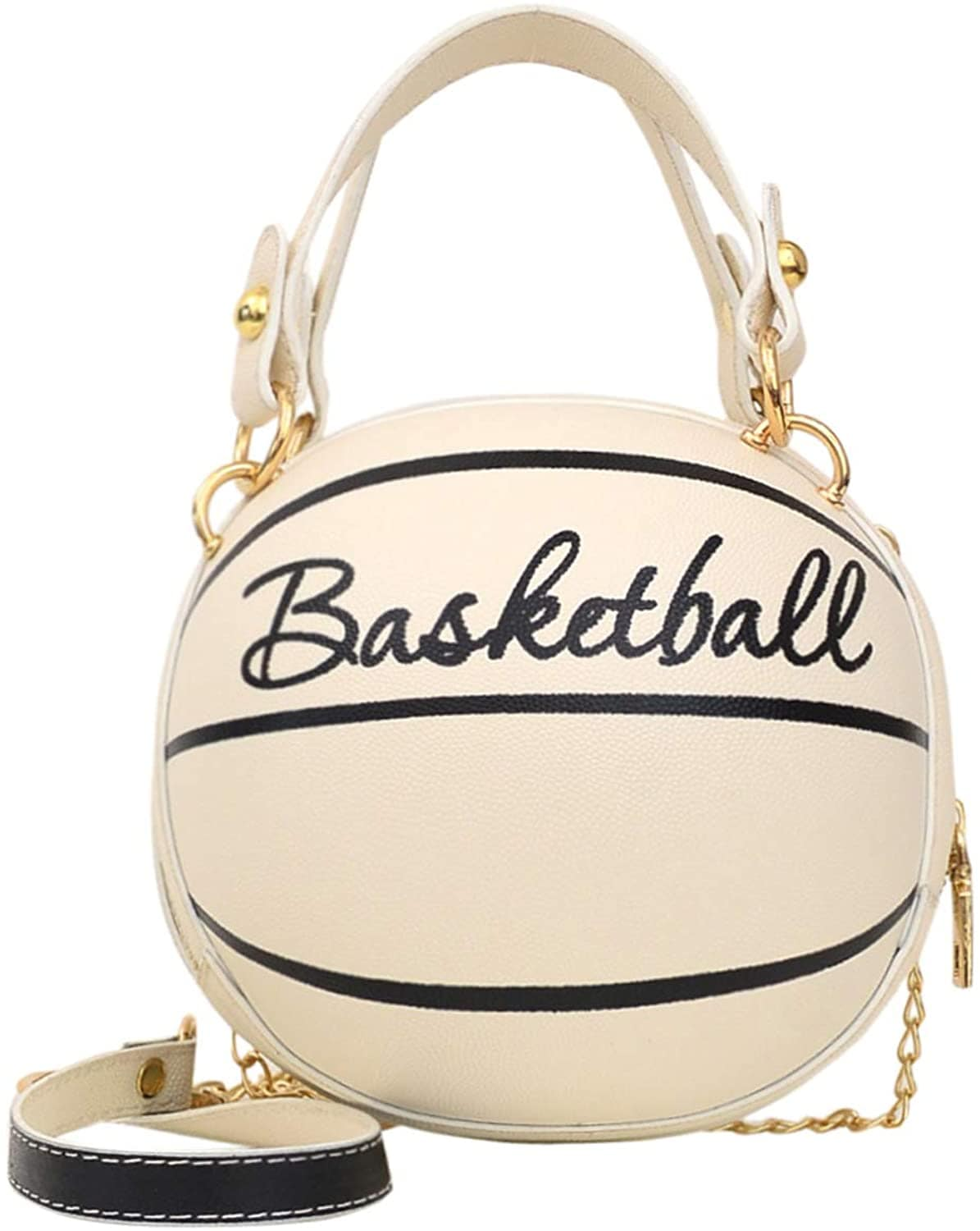 Basketball Clutch Crossbody White-Black Glitter Girl