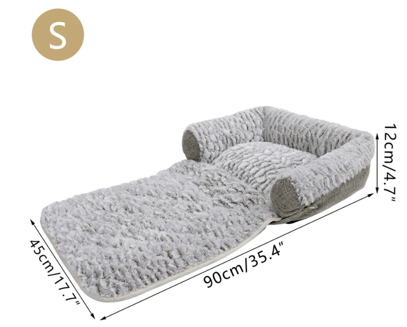 3-in-1 Convertible Bed - Sofa, Bed and Blanket, Bed, Blanket, Comfy, Cushion, Soft, Versatile, Warm, Beds & Furniture, HappyDog, dogs