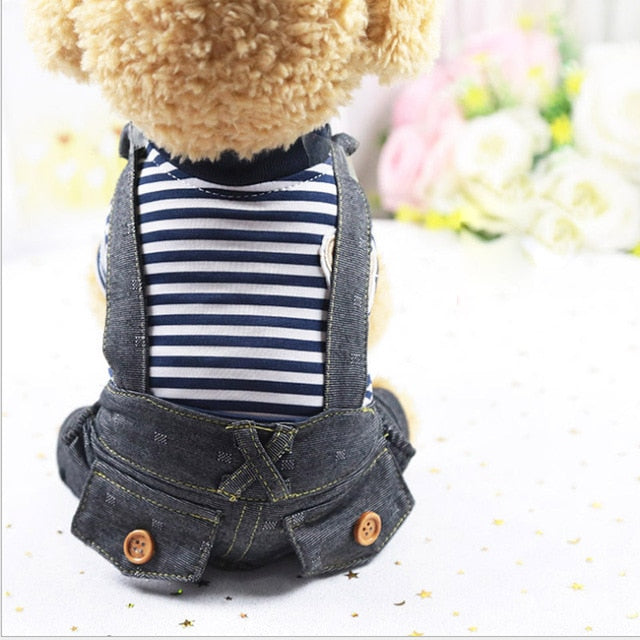 Denim Overalls, Onesie, Clothing, Shoes & Accessories, HappyDog, dogs
