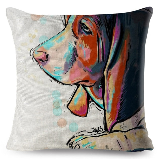 Dog Print Pillow Covers