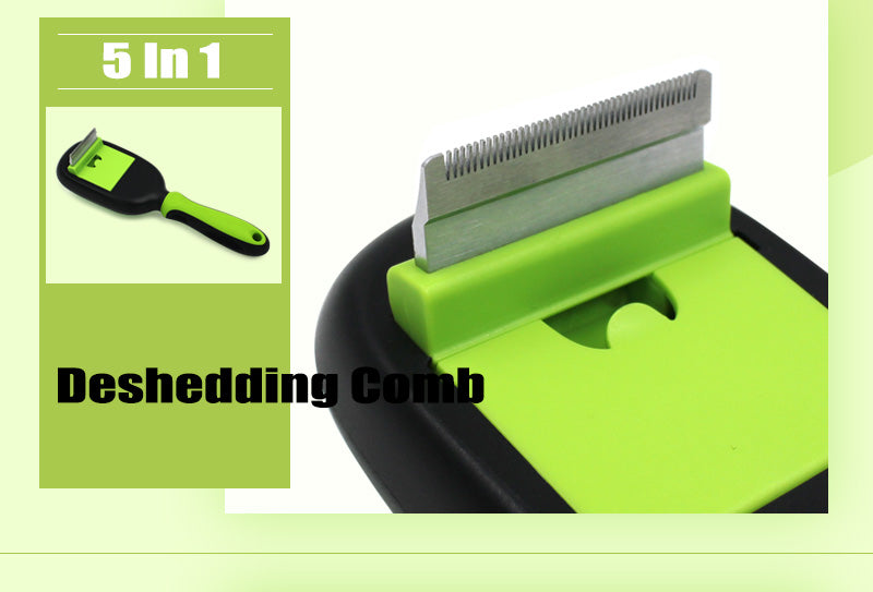 5 In 1 Grooming Comb & Brush Set, Brush, Comb, Fur, Grooming, Hair, Set, Grooming & Dental Care, HappyDog, dogs