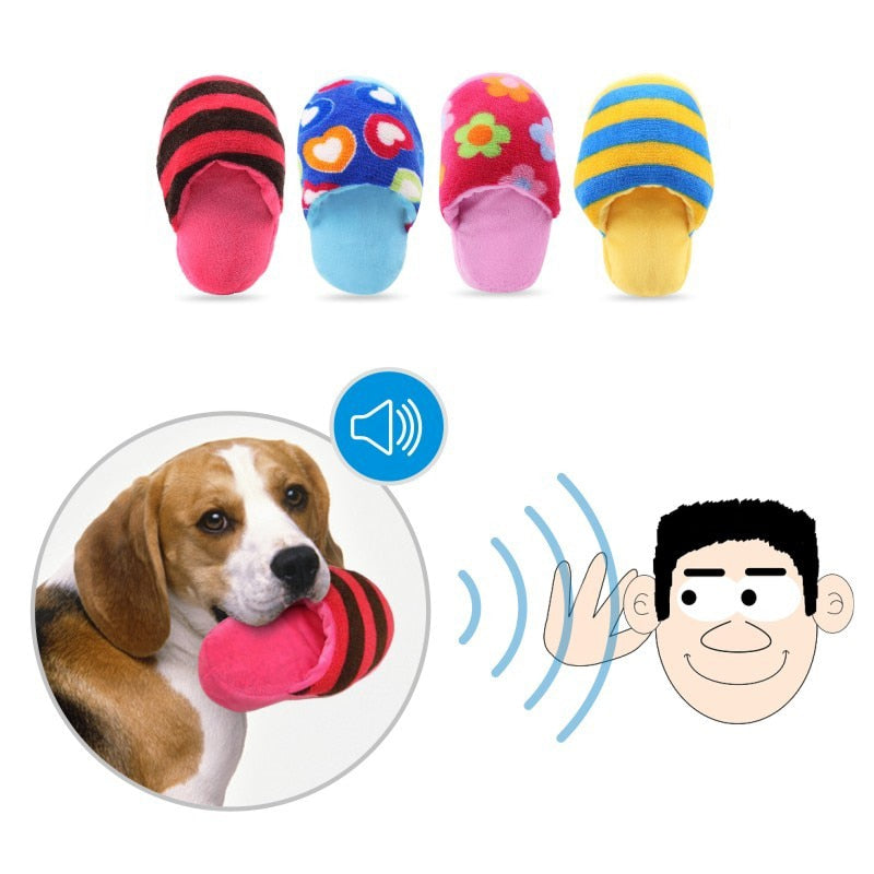 Squeaky Slipper Toy, Slippers, Squeak, Squeaky, Toys, Toys, HappyDog, dogs