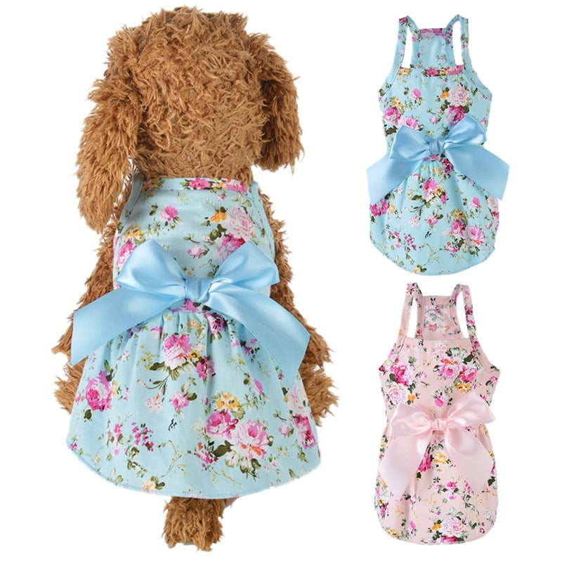 Summer Floral Princess Dress, Dress, Princess, Spring, Summer, Clothing, Shoes & Accessories, HappyDog, dogs