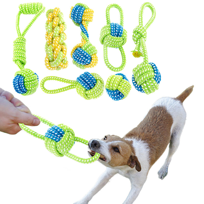 Knotted Play Rope with Ball, Chew, Rope, Toy, Toys, HappyDog, dogs