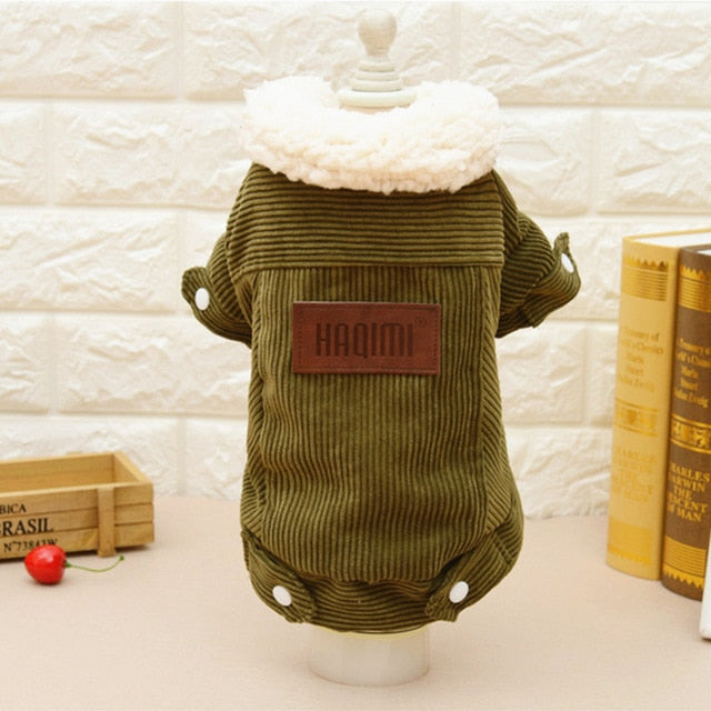 Corduroy Coat, Coat, Corduroy, Jacket, Warm, Clothing, Shoes & Accessories, HappyDog, dogs