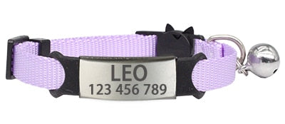 Personalized Custom Collar for Cats