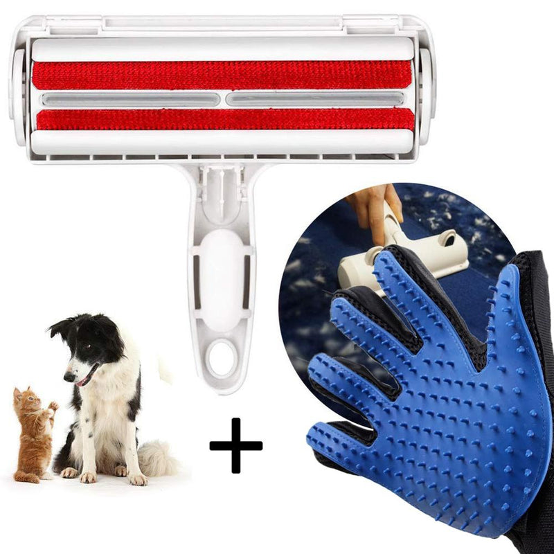 Combo Grooming Glove & Hair Remover, Grooming Glove, Grooming Kit, Hair Remover, Roller, Grooming & Dental Care, HappyDog, dogs