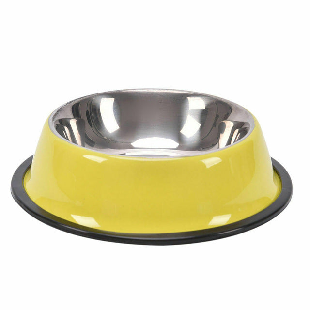 Colourful Stainless Steel Bowl, Bowl, Stainless, Steel, Bowls & Feeders, HappyDog, dogs