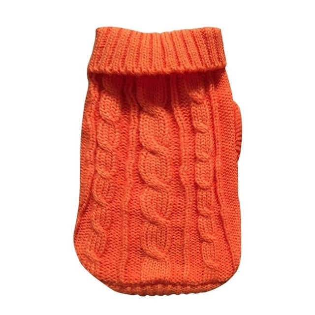 Knitted Turtle Neck Sweater, Knitted, Sweater, Clothing, Shoes & Accessories, HappyDog, dogs