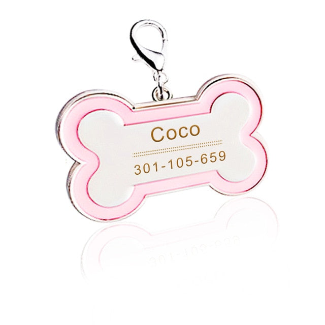 Custom Bone Tag, Nameplate, Tag, Tags, HappyDog, dogs