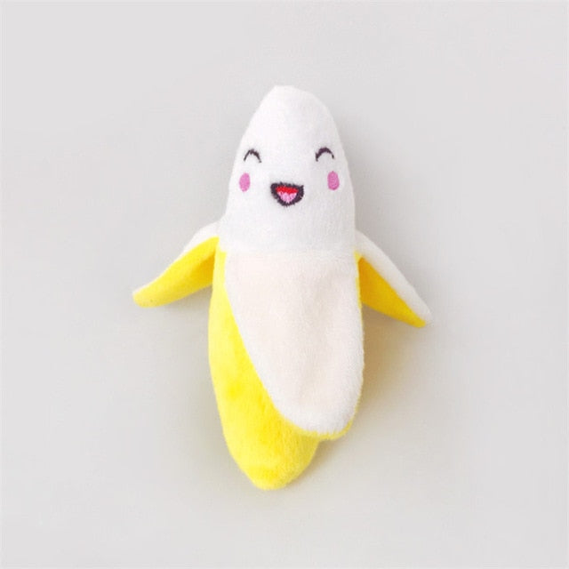 Squeaky Toy Collection, Banana, Carrot, Drumstick, Plush, Radish, Star, Toy, Watermelon, Toys, HappyDog, dogs